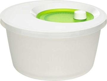Emsa 505087 Salatschleuder mit Kurbel, 4 L, Basic, grün / weiß -